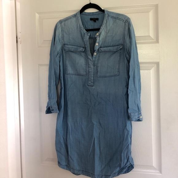 JCrew chambray shirt dress